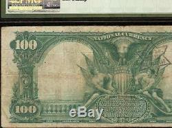 1902 $ 100 Dollar Peoria IL Banque Nationale Remarque Grande Monnaie Vieux Billets Pmg