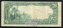 1902 20 $ De La Banque Centrale Nationale De Spartanburg, Sc Monnaie Nationale Ch. # 4996