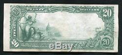 1902 20 $ First National Bank À Pittsburgh, Pennsylvanie National Monnaie Ch. # 252 Xf