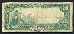 1902 20 $ La Banque Commerciale Nationale De Peoria, IL Monnaie Nationale Ch. # 3296
