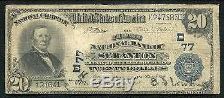 1902 $ 20 La Première Banque Nationale De Scranton, Pa National Currency Ch. # 77