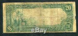 1902 20 $ Le Citizens National Bank De Baltimore, MD Monnaie Nationale Ch # 1384