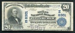 1902 20 $ Mellon Banque Nationale De Pittsburgh, Pennsylvanie National Monnaie Ch. # 6301