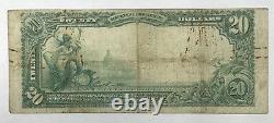 1902 $20 Monnaie Nationale Deuxième Banque Hoboken New Jersey 3744 Gros Billet