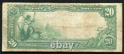 1902 20 $ Peoples-first National Bank Charleston, Sc National Currency Ch. #1621