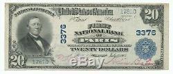 1902 $ 20 Prem Banque Nationale De Paris Illinois Monnaie Nationale De Nice Note