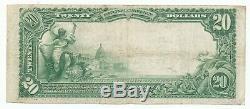 1902 $ 20 Prem Banque Nationale De Paris Illinois National Monnaie De Nice Vf + Note