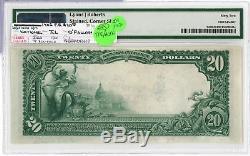 1902 20 $ Première Banque Nationale Pmg 62 O'fallon Illinois Plain Back Devise Jy542