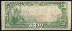 1902 20 $ Spartanburg, Sc Banque Nationale Note Caroline Du Sud Monnaie 44316