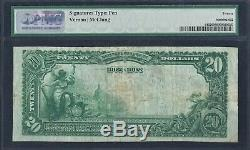 1902 $ 20 Starbuck Minnesota Mn Banque Nationale Monnaie Note # 9596 Pmg 20 Vf Rare