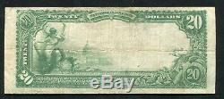 1902 20 $ The Farmers National Bank Of Opelika, Al Monnaie Nationale Ch. # 9550