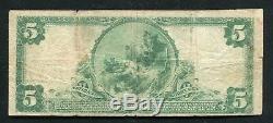 1902 5 $ Banque Nationale De La Ville De Memphis, Tn Monnaie Nationale # 9184