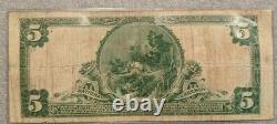 1902 5 $ Banque Publique En Monnaie Nationale De New York Gros Billet Fr-606 Blue Seal
