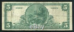 1902 5 $ Comté D'essex Db National Bank Of Newark, Nj Monnaie Nationale Ch. # 1217
