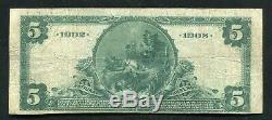 1902 5 $ Db Lincoln National Bank Of Rochester, Ny Monnaie Nationale Ch. # 8026