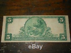 1902 5 $ Dollar Mellon National Bank Of Pittsburgh Monnaie Note Vf