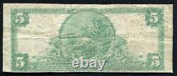 1902 5 $ La Birmingham National Bank Connecticut National Currency Ch. #1098