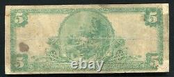 1902 5 $ La Charleston National Bank West Virginia National Currency Ch. #3236