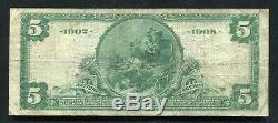 1902 5 $ La Deuxième Banque Nationale D'érié, Pa Monnaie Nationale Ch. # 606