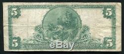 1902 5 $ La Mécanique Banque Nationale De Trenton, Nj Monnaie Nationale Ch. # 1327