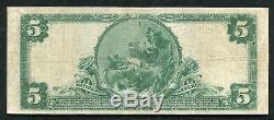 1902 5 $ La Mellon National Bank Of Pittsburgh, Pa Monnaie Nationale Ch. # 6301
