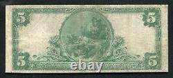 1902 $5 La Première Banque Nationale De Blackstone, Va Monnaie Nationale Ch. Numéro 9224