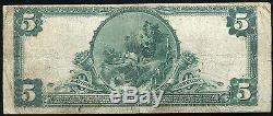 1902 5 $ La Première Banque Nationale De Durham, Nc Monnaie Nationale Ch. # 3811