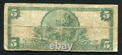 1902 $5 La Première Banque Nationale De Marietta, Pa Monnaie Nationale Ch. #25