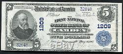 1902 5 $ La Première Banque Nationale Nationale De Camden, Nj National Currency Ch. # 1209