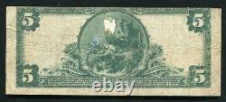 1902 5 $ Le Comté De Elk Banque Nationale De Ridgway, Pa Monnaie Nationale Ch. # 5014