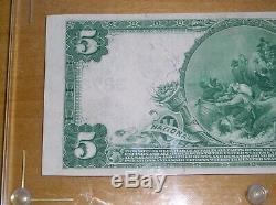 1902 $ 5 Monnaie Nationale La Première Banque Nationale Du Sud Amboy Nj Au + Rare
