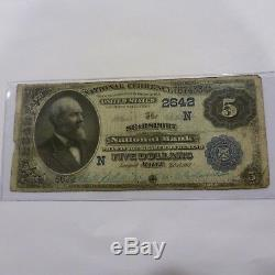1902 $ 5 Monnaie Nationale Searsport Maine Banque Nationale Large Us Note
