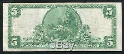 1902 5 $ Première Banque Nationale À Pittsburgh, Pa Monnaie Nationale Ch. # 252
