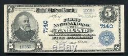 1902 5 $ Première Banque Nationale De Garland, Tx Devise Nationale Ch. # 7140