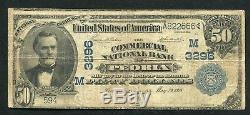 1902 50 $ La Banque Nationale Commerciale De Peoria, IL Monnaie Nationale Ch. # 3296