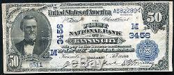 1902 $ 50 La Première Banque Nationale De Kansas City, Mo National Currency Ch. # 3456