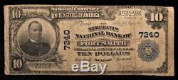 1902 Billet De 10 Dollars Américains En Monnaie Nationale (banque Nationale Fort Smith, Ak) # 3149k