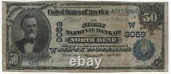 1902 Db 50 $ Banque Nationale Note Banque Du Nord Monnaie Nebraska Très Fine Rouille (504)