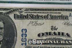 1902 Db 50 $ La Banque Nationale Omaha Note Devise Nebraska Pmg Very Fine 25 (907)