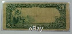 1902 Échange De Billets De Banque National De 20 $ Banque Nationale De Spokane Wa Ch # 4044 Vg