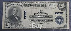 1902 Hannibal Mo National Bank 20 $ National Currency Note Ch # 6635