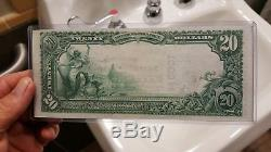 1902 Mellon National Bank Pittsburgh 20 $ Monnaie Nationale-mellon Signed & Choice