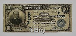 1902 Monnaie Nationale Grand Billet De 10 Millions De Dollarsnational Bank Of Bangor, Pa