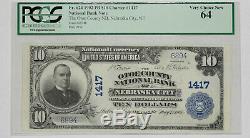 1902 Pb 10 $ Banque Nationale Du Comté D'otoe Banque De Nebraska City Pcgsc Cu64