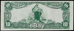1902 Pb 10 $ First National Bank Wahoo Nebraska Banknote Monnaie Nationale Vf / Xf