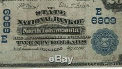 1902 Pb $ 20 Banque Nationale D'état Nord Tonawanda Nord Billet De Banque National De New York Vf