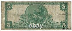 1902 Plain Back 5 $ Monnaie Nationale 2e Banque Nationale De Titusville Pa. Ch# 879
