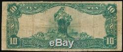 1902 Retour Plaine Nationale 10 $ Monnaie First Nat. Banque Du Recteur, Ar Ch. # 10853
