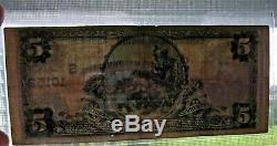 1902 U. S National Bank Of Houston Texas Monnaie Note 5 $ Dollar Rare 10152 Projet De Loi