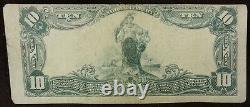 1902 White River Junction, Vt $10 Plain Back Vermont National Bank Note Devise